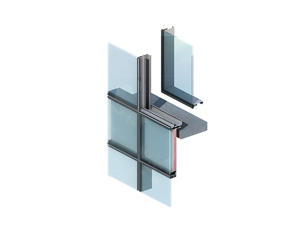 FACTORY 6000S EXTRUSION ALUMINIUM VISIBLE CURTAIN WALL PROFILES