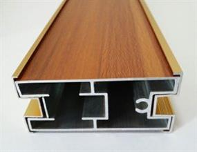 Aluminum wooden grain profile