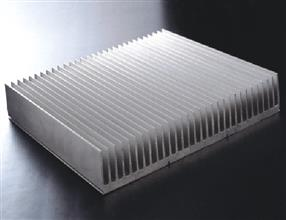 Aluminum shape for radiator