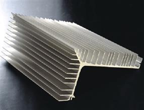 Aluminium section for radiator