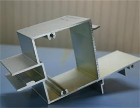 Aluminum profile with grey sand powder coating