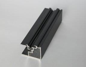 Black power coated thermal break aluminium windows profiles