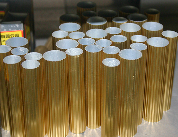 Gold polishing aluminum round tubes
